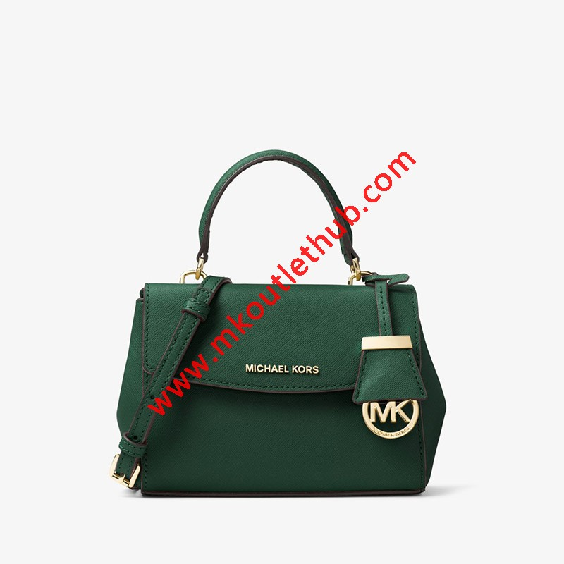 MICHAEL Michael Kors Ava Extra-Small Saffiano Leather Crossbody Green