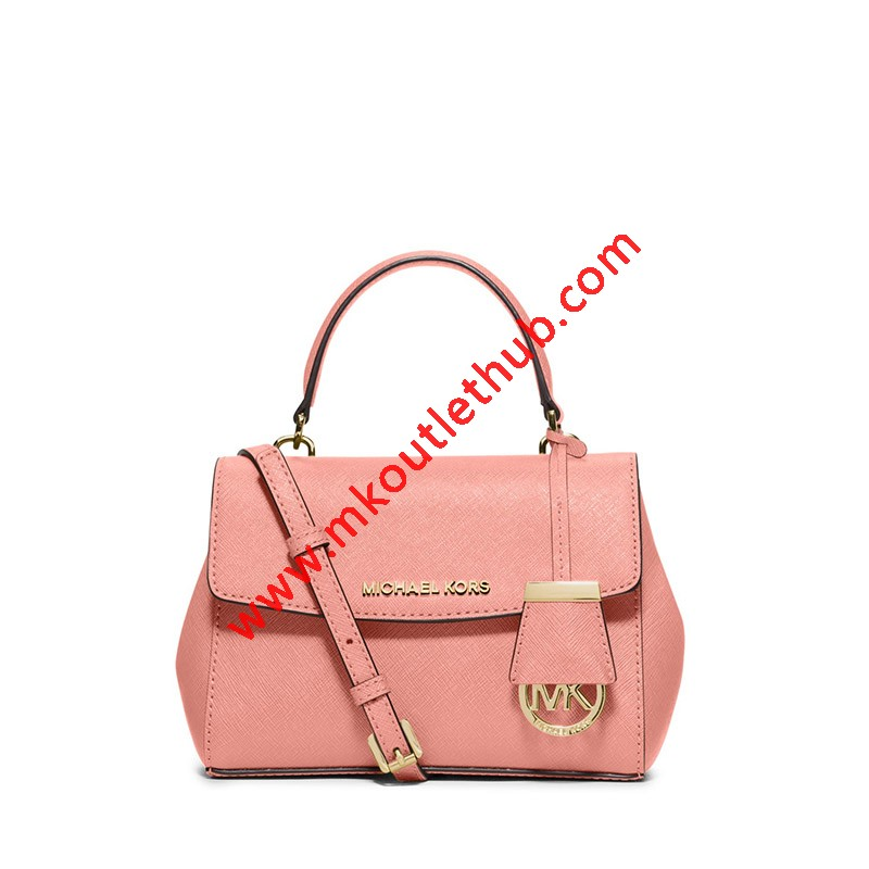 MICHAEL Michael Kors Ava Extra-Small Saffiano Leather Crossbody Pink