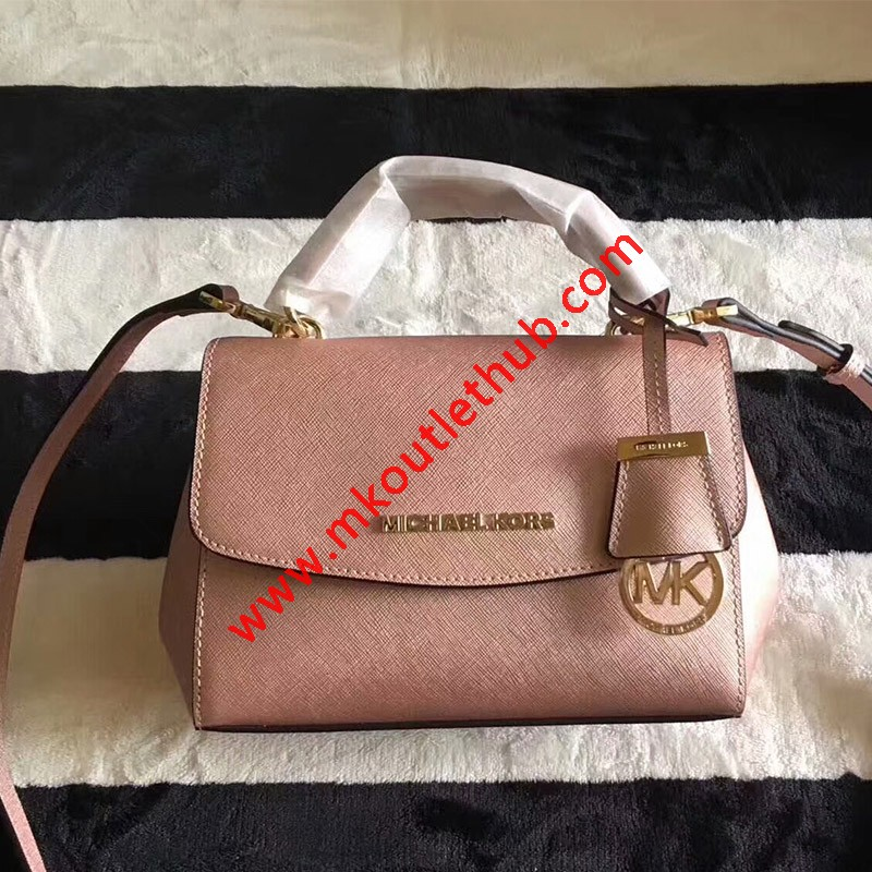 MICHAEL Michael Kors Ava Extra-Small Saffiano Leather Crossbody Rose Gold