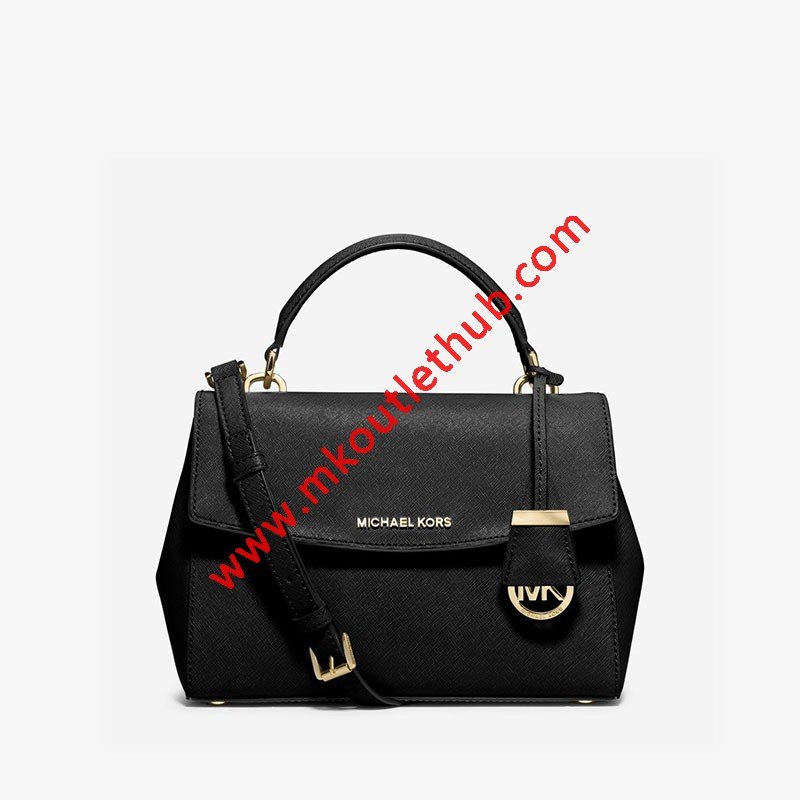MICHAEL Michael Kors Ava Small Saffiano Leather Satchel Black