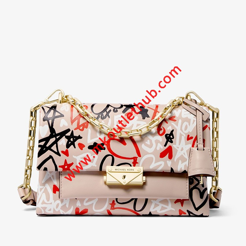 MICHAEL Michael Kors Cece Medium Qixi Graffiti Shoulder Bag Pink