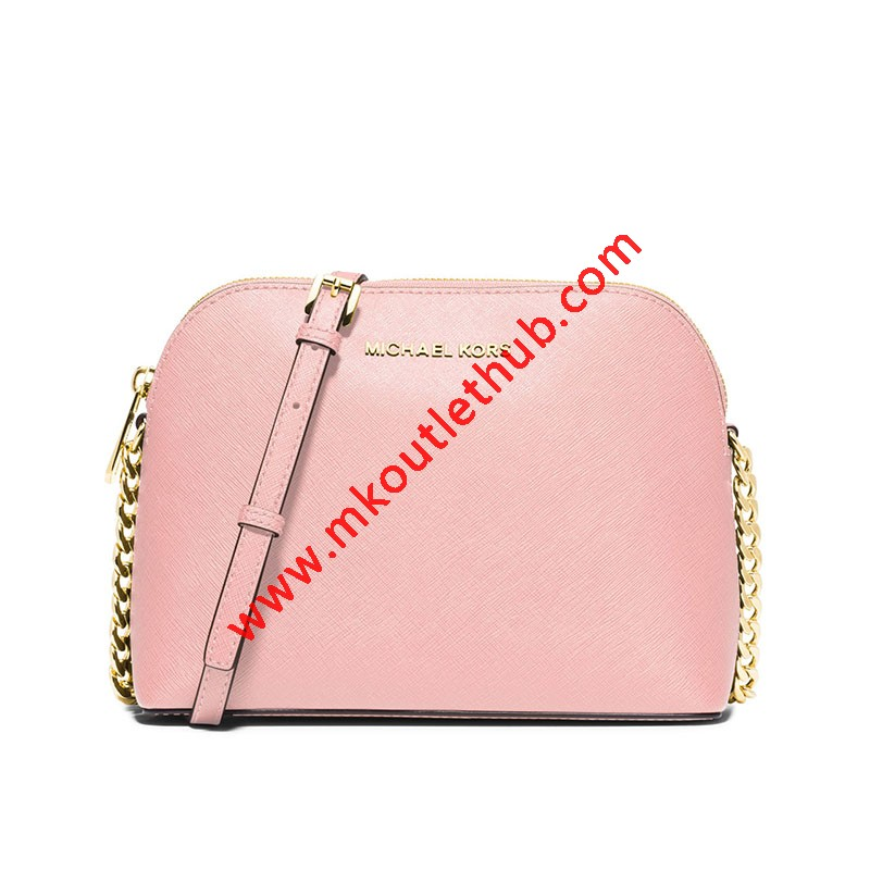 MICHAEL Michael Kors Cindy Saffiano Leather Crossbody Pink