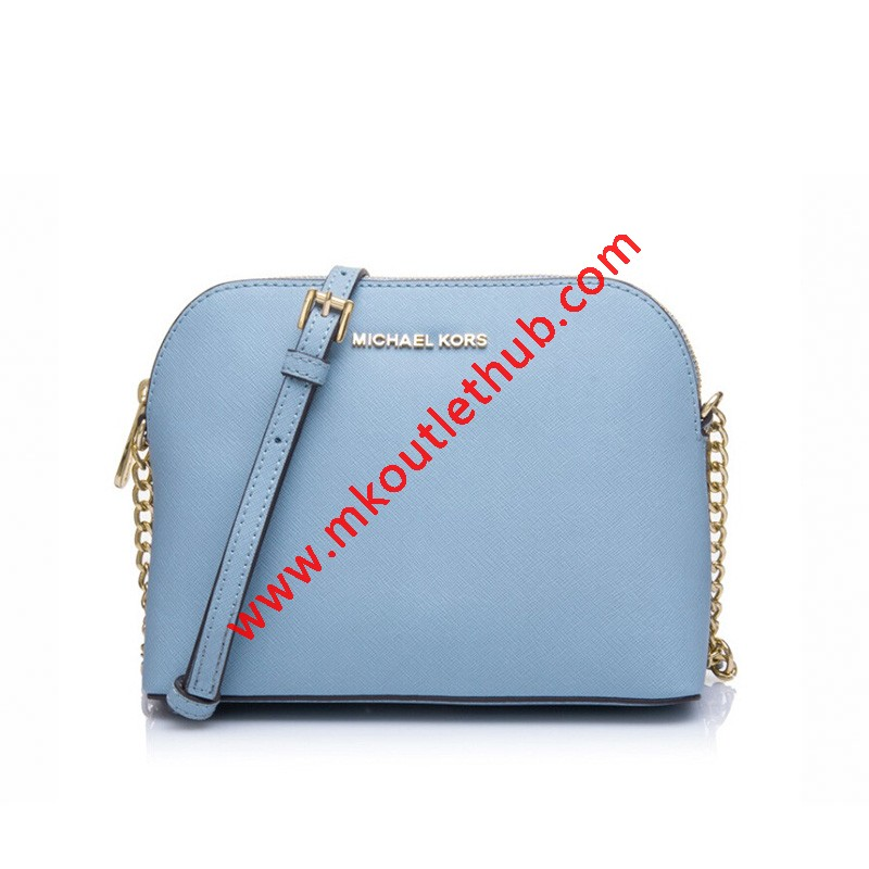 MICHAEL Michael Kors Cindy Saffiano Leather Crossbody Sky Blue