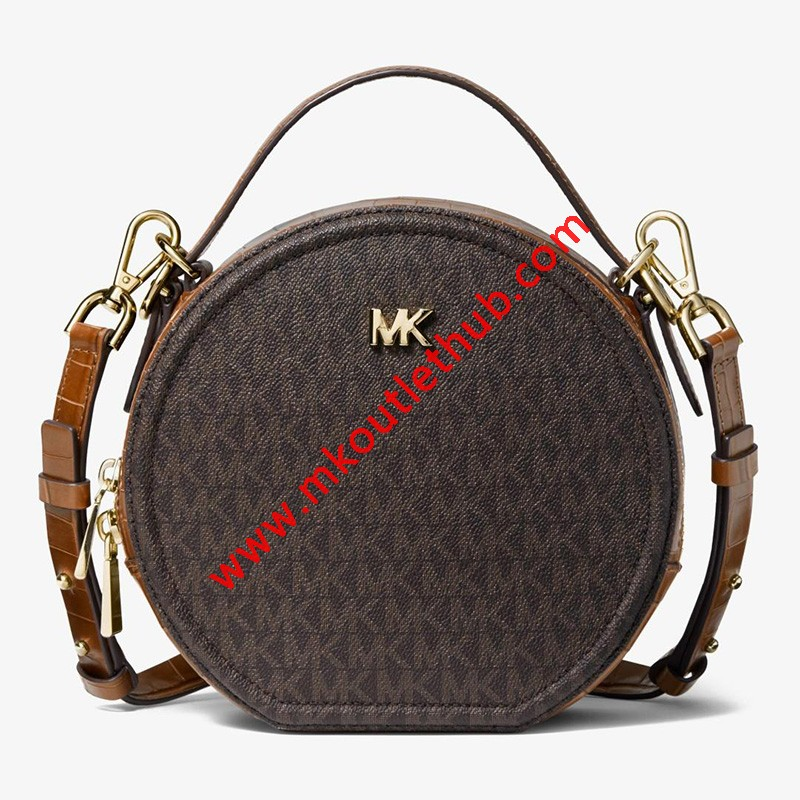 MICHAEL Michael Kors Delaney Medium Logo Canteen Crossbody Bag Brown