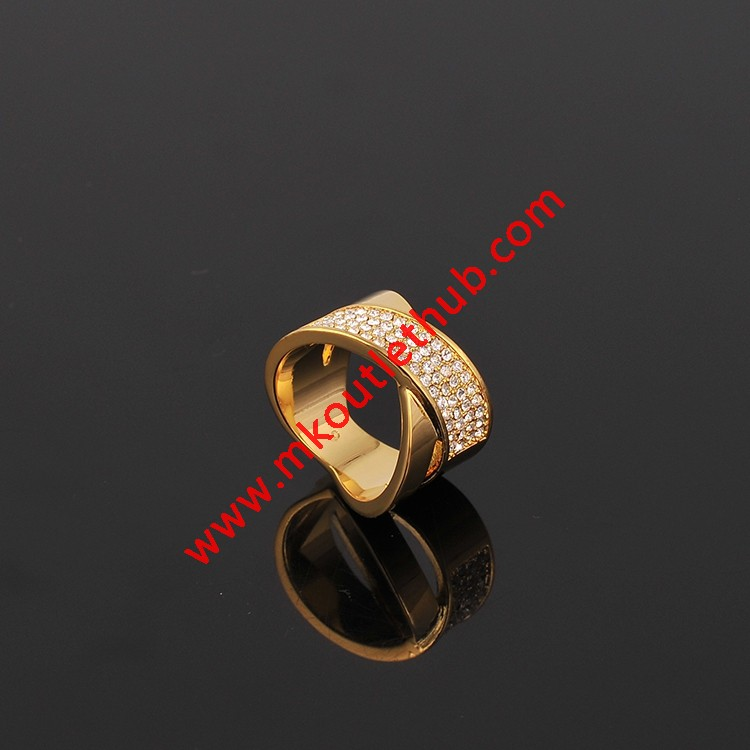 Cheap Michael Kors Gold-Tone Diamond Cross Ring
