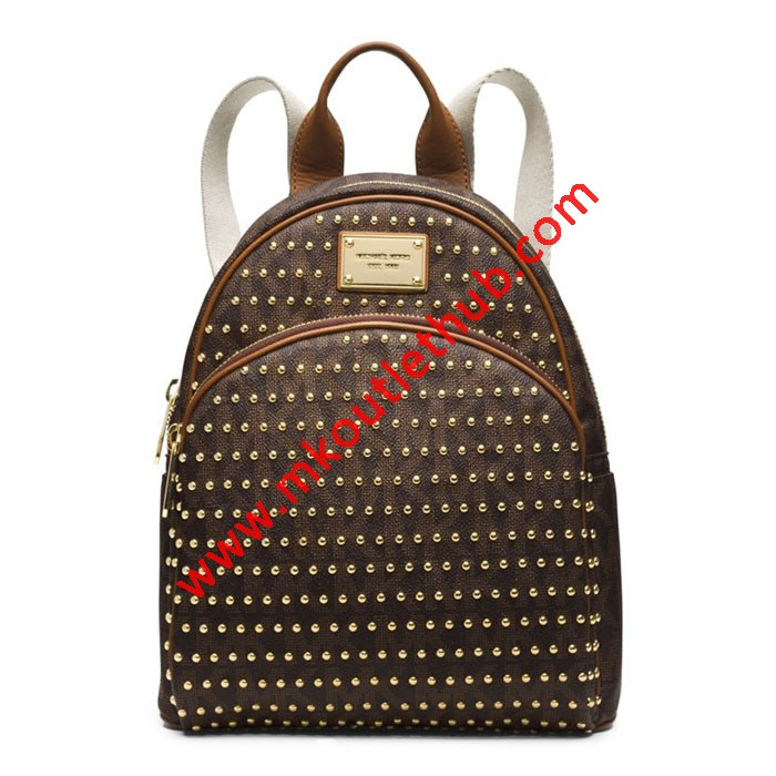 MICHAEL Michael Kors Jet Set Travel Small Studded Backpack Coffee