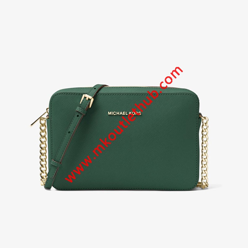 MICHAEL Michael Kors Jet Set Large Saffiano Leather Crossbody Green