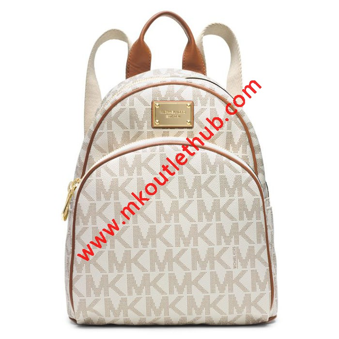 MICHAEL Michael Kors Jet Set Travel Logo Small Backpack White