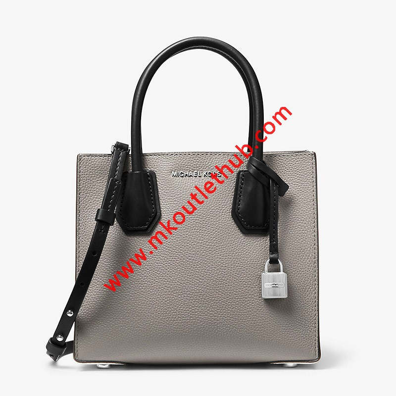 MICHAEL Michael Kors Mercer Color-Block Leather Tote Grey