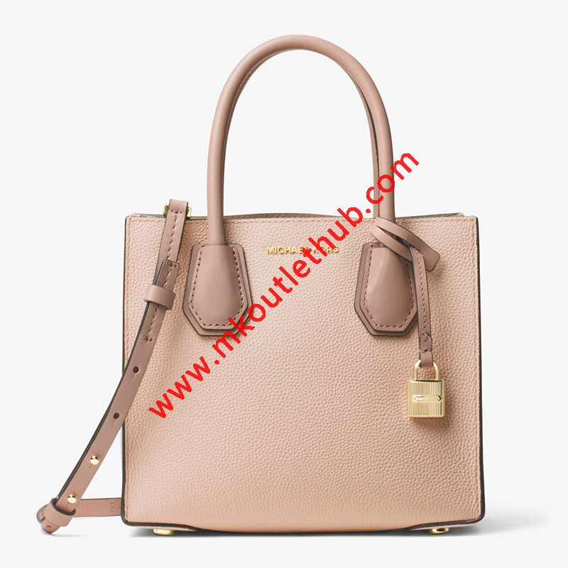 MICHAEL Michael Kors Mercer Color-Block Leather Tote Pink