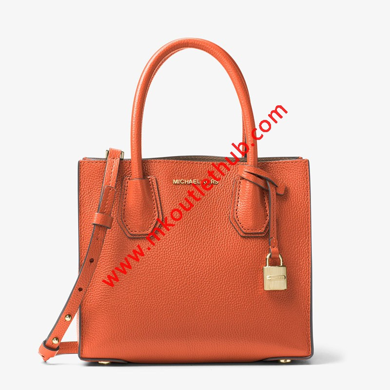 MICHAEL Michael Kors Mercer Leather Tote Orange
