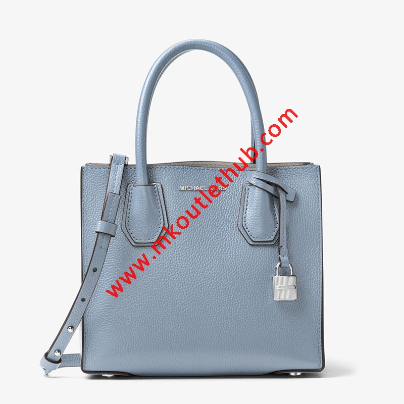 MICHAEL Michael Kors Mercer Leather Tote Sky Blue