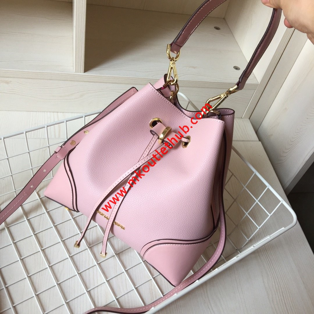 MICHAEL Michael Kors Mercer Gallery Small Pebbled Leather Shoulder Bag Pink