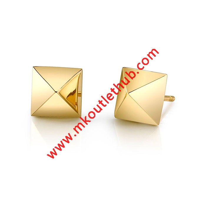 Cheap Michael Kors Gold-Tone Pave Pyramid Stud Earrings