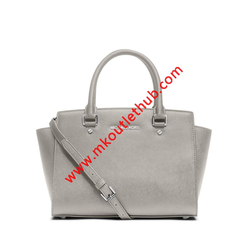 MICHAEL Michael Kors Selma Saffiano Leather Satchel Grey