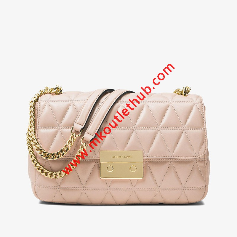 MICHAEL Michael Kors Sloan Quilted-Leather Shoulder Bag Pink