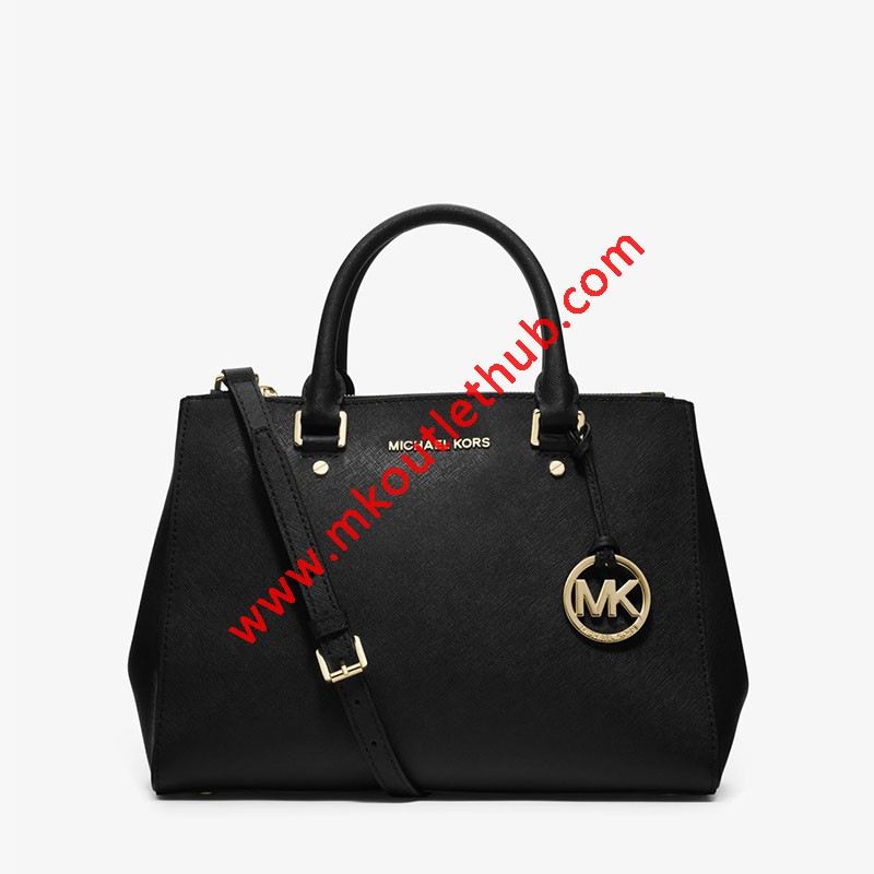 MICHAEL Michael Kors Sutton Medium Saffiano Leather Satchel Black