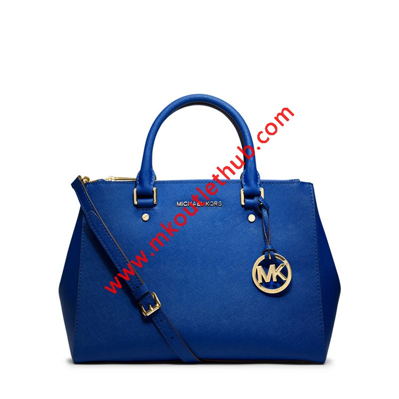 MICHAEL Michael Kors Sutton Medium Saffiano Leather Satchel Blue