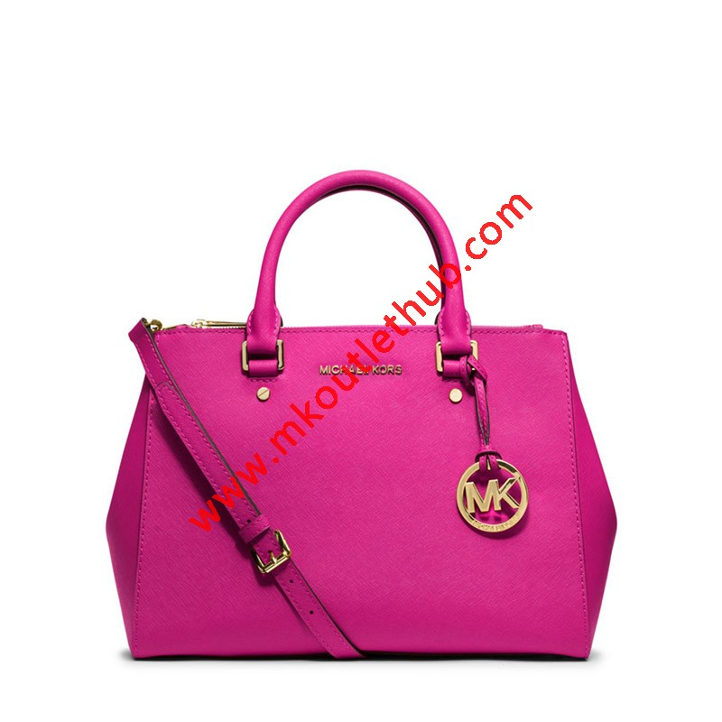 MICHAEL Michael Kors Sutton Medium Saffiano Leather Satchel Rose