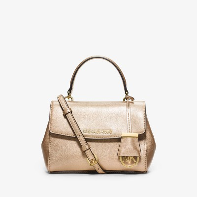 MICHAEL Michael Kors Ava Extra-Small Saffiano Leather Crossbody Gold