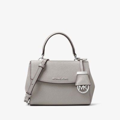 MICHAEL Michael Kors Ava Extra-Small Saffiano Leather Crossbody Grey