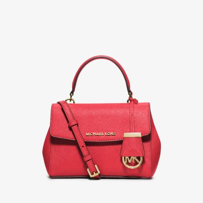 MICHAEL Michael Kors Ava Extra-Small Saffiano Leather Crossbody Red