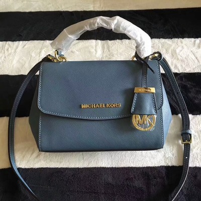 MICHAEL Michael Kors Ava Extra-Small Saffiano Leather Crossbody Sky Blue