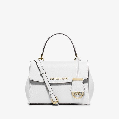 MICHAEL Michael Kors Ava Extra-Small Saffiano Leather Crossbody White