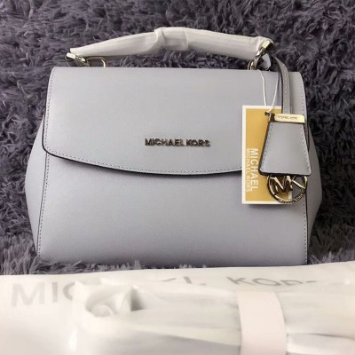 MICHAEL Michael Kors Ava Small Saffiano Leather Satchel Grey