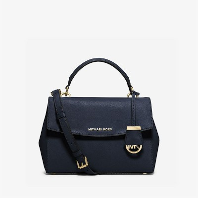 MICHAEL Michael Kors Ava Small Saffiano Leather Satchel Navy Blue