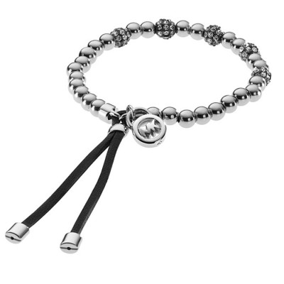 Cheap Michael Kors Silver-Tone Bead Fireball Adjustable Bracelet
