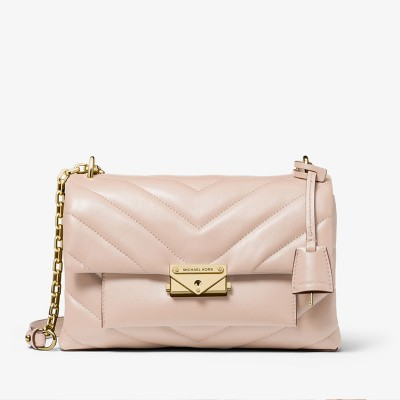 MICHAEL Michael Kors Cece Medium Quilted Leather Convertible Shoulder Bag Pink