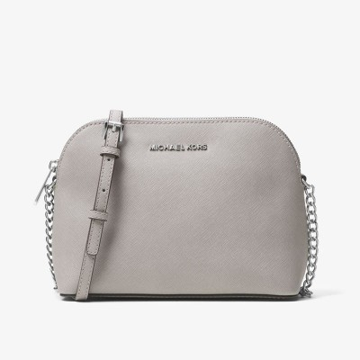 MICHAEL Michael Kors Cindy Saffiano Leather Crossbody Grey