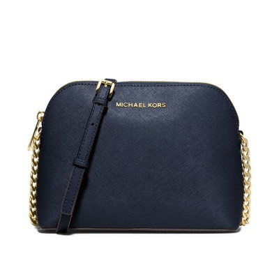 MICHAEL Michael Kors Cindy Saffiano Leather Crossbody Navy Blue