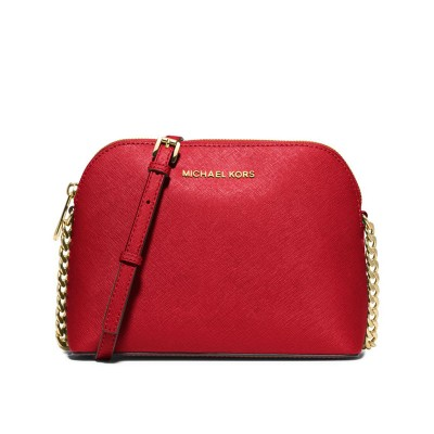 MICHAEL Michael Kors Cindy Saffiano Leather Crossbody Red