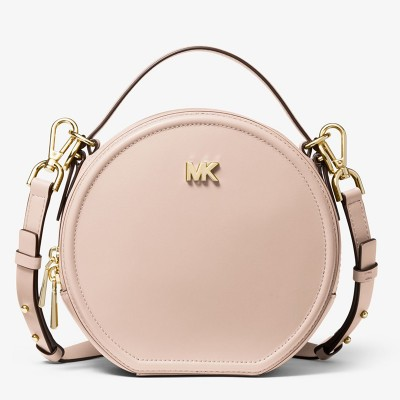 MICHAEL Michael Kors Delaney Medium Leather Canteen Crossbody Bag Pink