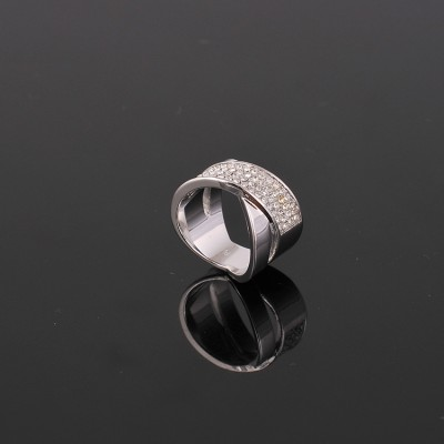 Cheap Michael Kors Silver-Tone Diamond Cross Ring