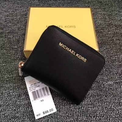 MICHAEL Michael Kors Jet Set Medium Travel Zip-Around Wallet Black