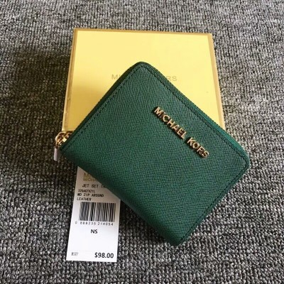 MICHAEL Michael Kors Jet Set Medium Travel Zip-Around Wallet Green