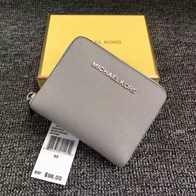 MICHAEL Michael Kors Jet Set Medium Travel Zip-Around Wallet Grey