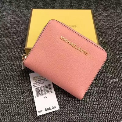 MICHAEL Michael Kors Jet Set Medium Travel Zip-Around Wallet Pink