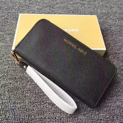 MICHAEL Michael Kors Jet Set Saffiano Leather Continental Wallet Black