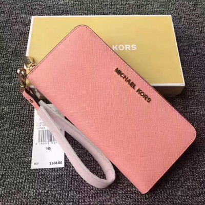 MICHAEL Michael Kors Jet Set Saffiano Leather Continental Wallet Pink