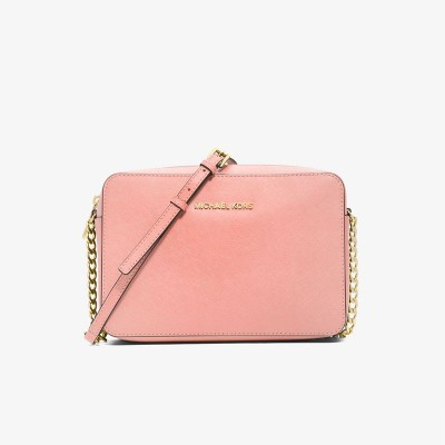 MICHAEL Michael Kors Jet Set Large Saffiano Leather Crossbody Pink