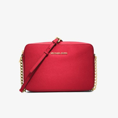 MICHAEL Michael Kors Jet Set Large Saffiano Leather Crossbody Red