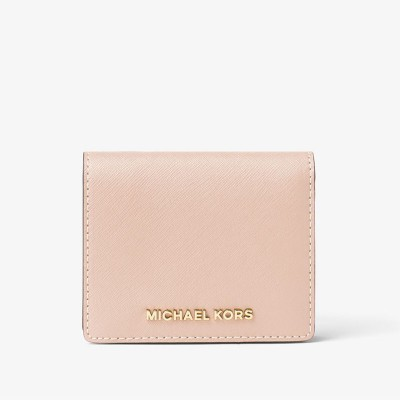 MICHAEL Michael Kors Jet Set Travel Flap Leather Card Holder Apricot