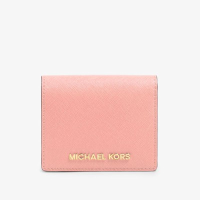 MICHAEL Michael Kors Jet Set Travel Flap Leather Card Holder Pink
