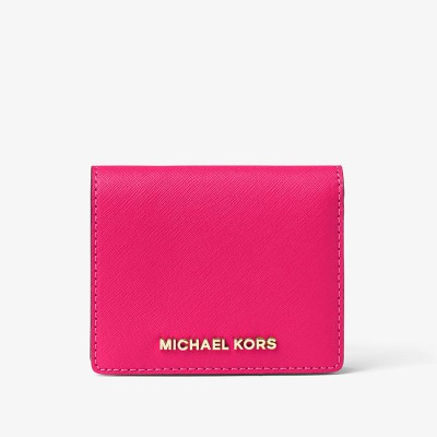 MICHAEL Michael Kors Jet Set Travel Flap Leather Card Holder Rose