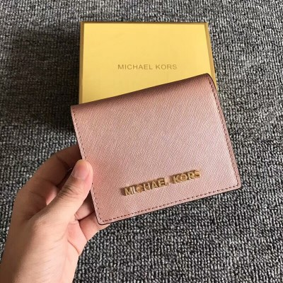 MICHAEL Michael Kors Jet Set Travel Flap Leather Card Holder Rose Gold