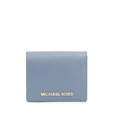 MICHAEL Michael Kors Jet Set Travel Flap Leather Card Holder Sky Blue